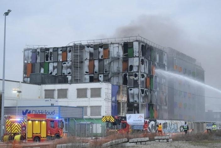Пожар в дата центре